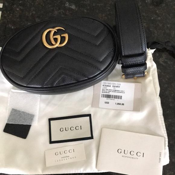 d67f8c53d017 Gucci Bags | Gg Marmont Matelass Leather Belt Bag 75 | Poshmark